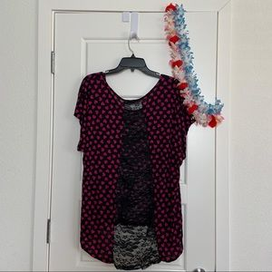 Annabelle Tops - Women's Lace Heart Top